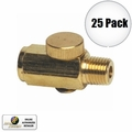 "Astro Pneumatic 5706 25pk Air Valve Pressure ""Cheater"" Valve Brass 25 Pack"