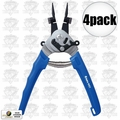 Astro Pneumatic 9421 4pk Internal External Snap Ring Pliers Multi-Angle