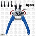 Astro Pneumatic 9421 6pk Snap Ring Pliers Internal External plus Multi-Angle
