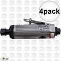 "Astro Pneumatic T210 4pk 1/4"" Pneumatic Air Die Grinder w. Safety Lever"