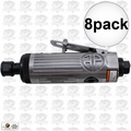 "Astro Pneumatic T210 8pk 1/4"" Pneumatic Air Die Grinder w. Safety Lever"