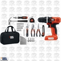 Black & Decker LDX172PK 7.2V Lithium Drill/Driver + 56 Piece Project Kit
