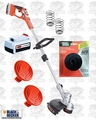 Black & Decker LST136 40V Trimmer + Batt + String + Spare Parts Kit