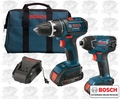 Bosch CLPK232-181 Cordless Lithium-Ion Slim Pack 2-Tool Combo Kit