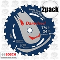 "Bosch DCB724 7-1/4"" 24 Tooth DareDevil Framing Blade"