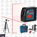 Bosch Tools BT150 Self-Leveling Cross-Line Laser w/Tripod Base