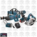 Bosch Tools CLPK402-181 18V 4.0Ah Cordless Lithium-Ion 4-Tool Combo Kit