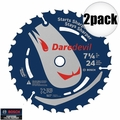 "Bosch Tools DCB724 2pk 7-1/4"" 24 Tooth DareDevil Framing Blade"