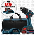 Bosch Tools DDS182WC-102-X2 18 V Brushless Drill Driver w/ Wireless Charger Kit
