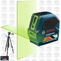 Bosch Tools GLL100G Self-Leveling Green-Beam Cross-Line Laser w/Tripod Base