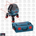 Bosch Tools GLL3-50 Three Line Laser with Layout Beam w/ L-Boxx Open Box