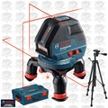 Bosch Tools GLL3-50 Three Line Laser with Layout Beam w/ L-Boxx + Tripod Kit