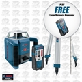 Bosch Tools GRL400HCK-X1 Self-Leveling Rotary Laser Full Kit w/ FREE DLR130K
