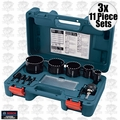 Bosch Tools HDG11 3x 11 Piece Diamond Hole Saw Kit