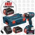 "Bosch Tools IDH182-01L-X1 Brushless Socket Ready Impact w/ 1/4"" Hex + 1/2"" Sq 4Ah Kit"