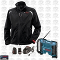 Bosch Tools PSJ120L-102 Mens 12V Max Heated Jacket - LG w/ Jobsite Radio