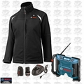 Bosch Tools PSJ120XL-102W Womens 12V Max Heated Jacket - XL w/ Jobsite Radio