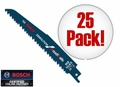 "Bosch Tools RDN6V 25pk 6"" 5/8T Demolition Reciprocating Saw Blades"