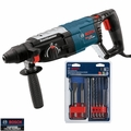 Bosch Tools RH228VC-B1 SDS-Plus Rotary Hammer Kit + 6pc Chisel and Bit Set