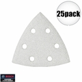 Bosch Tools SDTW042 25pk 40 Gr Triangle Hook & Loop Sanding Sheets for Paint