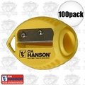 C. H. Hanson 00202 100pk VersaSharp Carpenter Pencil Sharpener Flat or Round