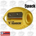 C. H. Hanson 00202 5pk VersaSharp Carpenter Pencil Sharpeners