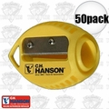 C. H. Hanson 00202 50pk VersaSharp Carpenter Pencil Sharpeners Flat or Round