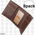 Carhartt 61-2200-20 8pk Men's Trifold Brown Leather Wallet