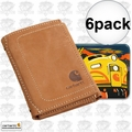 Carhartt 61-2200 6pk Men's Pebble Trifold Wallet with Collectible Tin