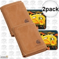 Carhartt 61-2200 2pk Men's Pebble Trifold Wallet with Collectible Tin