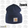 Carhartt A18 Navy Acrylic Watch Cap One Size Fits All