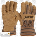 Carhartt A515 Lined Suede Cowhide Palm Gloves Brown Large