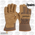 Carhartt A515 2pr Lined Suede Cowhide Palm Gloves X-Large Brown