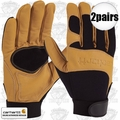Carhartt A533 2pr The Dex Leather Utility Gloves Medium