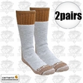 Carhartt A66 2pr Cold Weather Boot Socks Brown Large