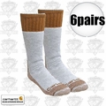 Carhartt A66 6pk Cold Weather Boot Socks Brown Large