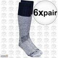 Carhartt A66 6pk Cold Weather Boot Socks Navy X-Large