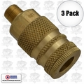 "Coilhose 152 3pk 1/4"" NPT Male M Coupler Body Air Fitting"