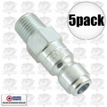 "Coilhose 5903 5pk 1/4"" NPT Male P Plug Air Fitting"