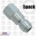 "Coilhose 5904 5pk 1/4"" NPT Female P Plug Air Fitting"