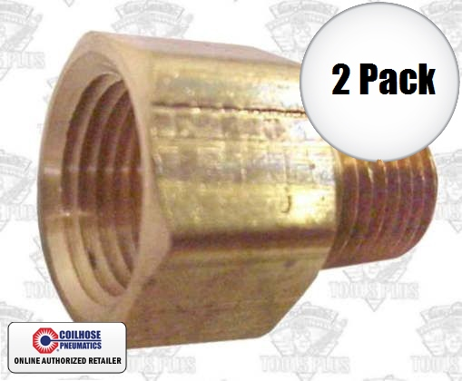 """Coilhose C0604-DL 2pk 3/8"""" FPT x 1/4"""" MPT Hex Adapter"""