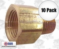 "Coilhose C0604-DL 10pk 3/8"" FPT x 1/4"" MPT Hex Adapter"