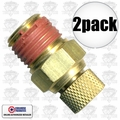 "Coilhose DV04 2pk Air Compressor Tank Replacement Air Petcock 1/4"" NPT"