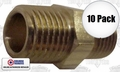 "Coilhose H0404-P100 1/4"" x 1/4"" Male NPT Hex Nipple"