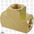 "Coilhose T004-DL Brass 1/4"" FPT Tee Manifold"