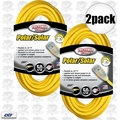 Coleman Cable 01688 2pk 50' 12/3 SJEOW Polar/Solar Extension Cord