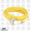 Coleman Cable 03487 3-Way Extension Cord