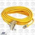 Coleman Cable 03487 25' 12/3 Wire 3-Way Extension Cord