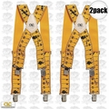 Custom Leathercraft 110RUL 2pk Elastic Work Suspenders - Tape Rule