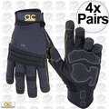 Custom Leathercraft 145L 4pk Tradesman High Dexterity Work Gloves - Large